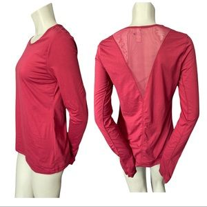 Lole Raspberry Long Sleeve Top with Mesh Back Med